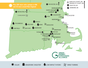 Green Energy Consumers Alliance resource map